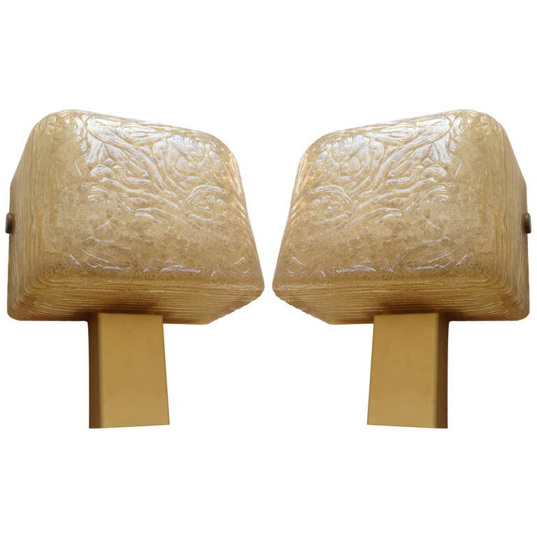 Pair Of French High Style 1980s Wall Lights At 1stdibs