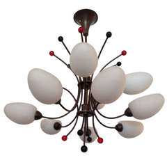 French 1960s Whimsical Chandelier