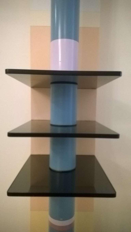 unique 1980s sculptural floor lamp for sale at 1stdibs. Black Bedroom Furniture Sets. Home Design Ideas