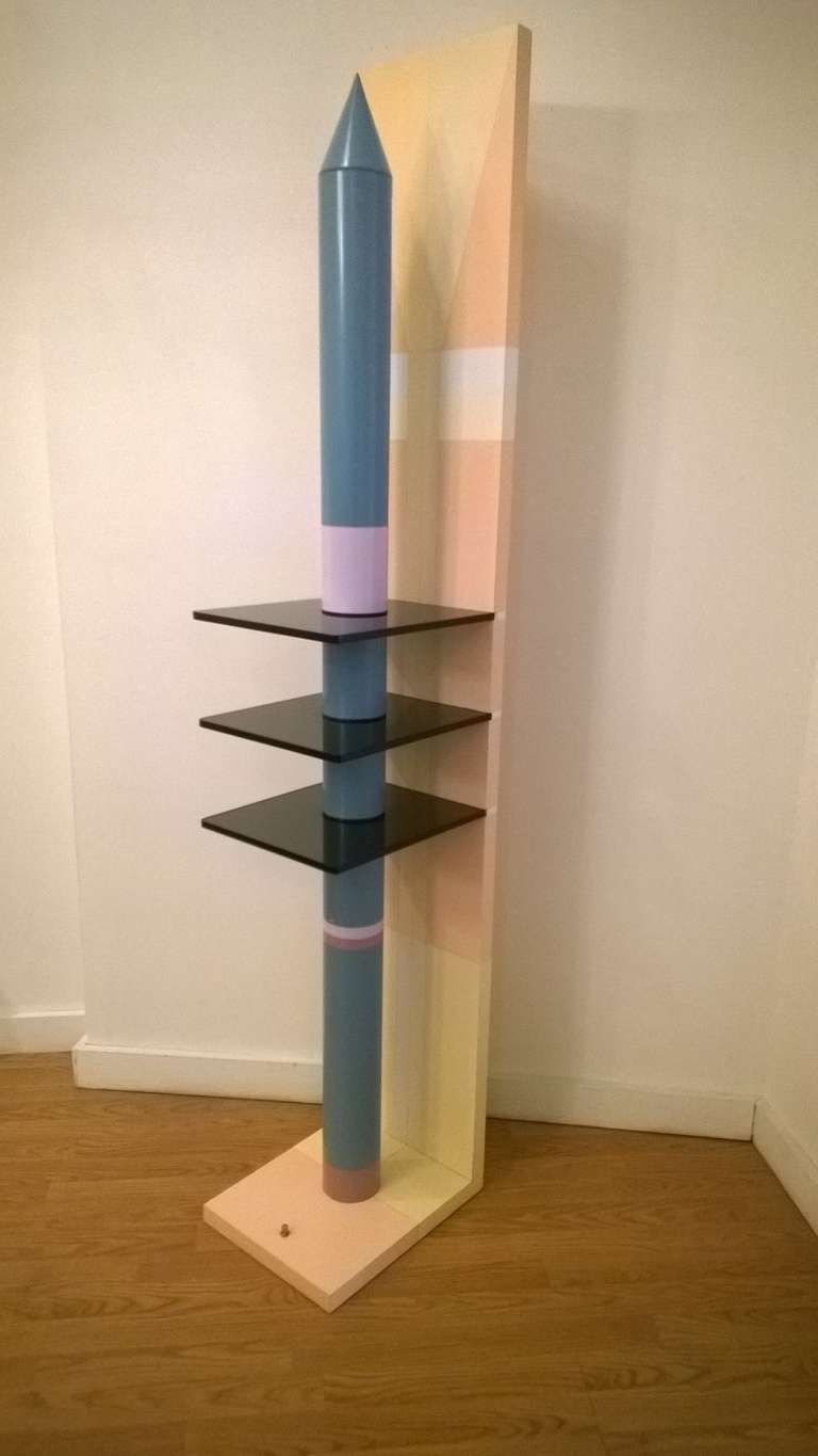 Unique 1980s Sculptural Floor Lamp In Excellent Condition For Sale In New York, NY