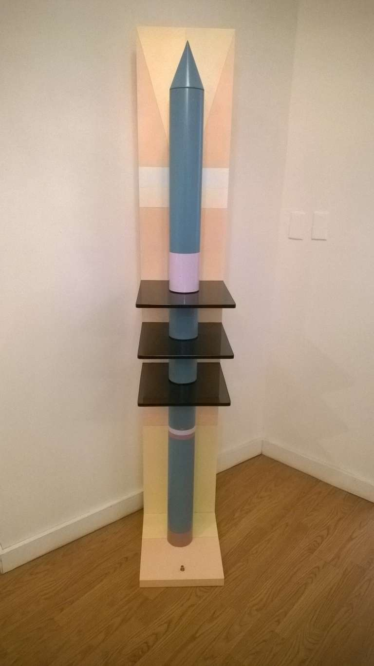 20th Century Unique 1980s Sculptural Floor Lamp For Sale