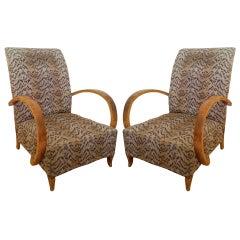 Pair of Thonet Czech Art Deco Chairs
