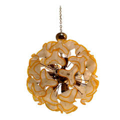 French 1960s Floral Bouquet Chandelier