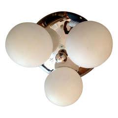 "Italian 60s ""Space Age"" Flush Ceiling Light"