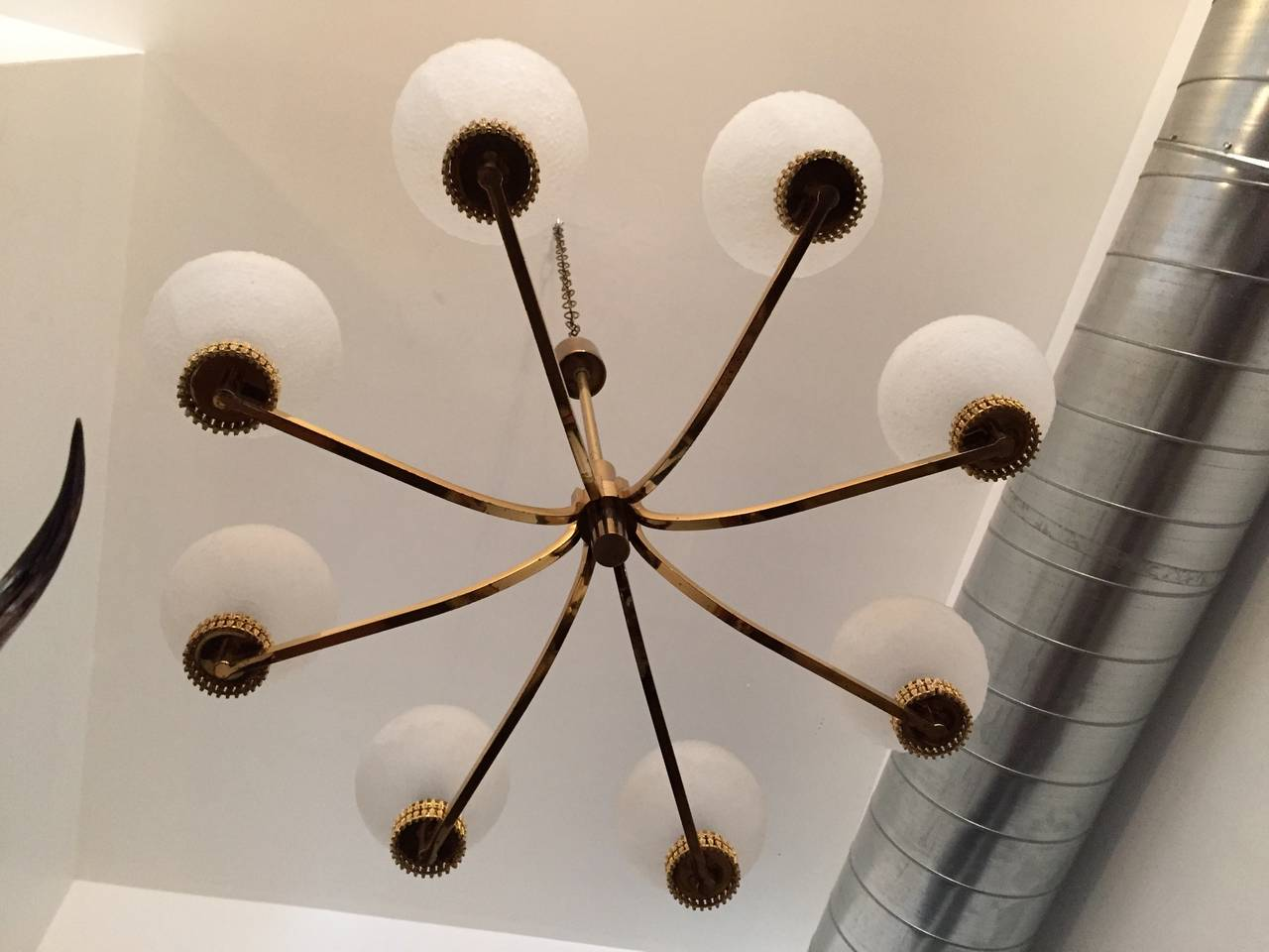 "German ""High Style"" 1970s Chandelier For Sale 2"