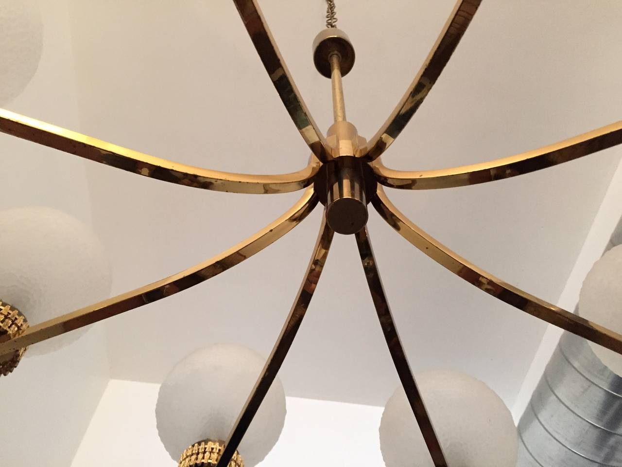 "German ""High Style"" 1970s Chandelier For Sale 1"