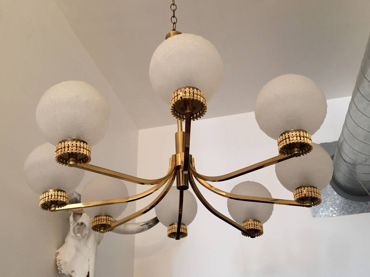 "Late 20th Century German ""High Style"" 1970s Chandelier For Sale"