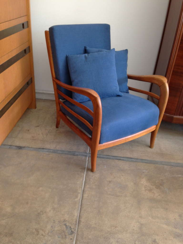 Pair of Italian 1940s Lounge Chairs 7