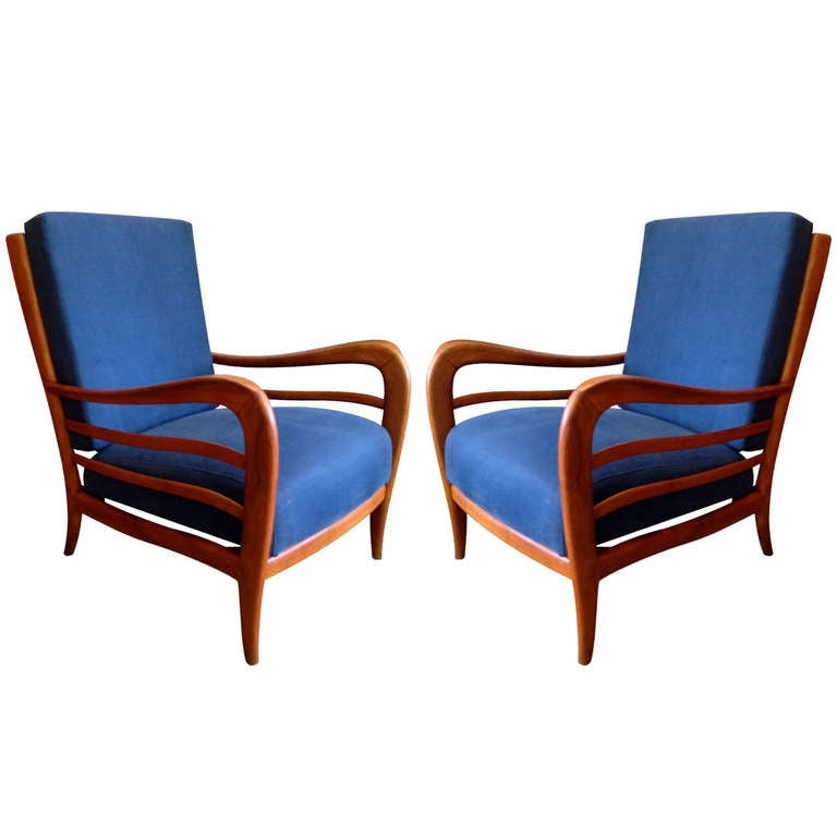 Pair of Italian 1940s Lounge Chairs 1