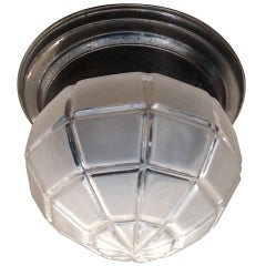 Austrian Secessionist Flush Ceiling Light