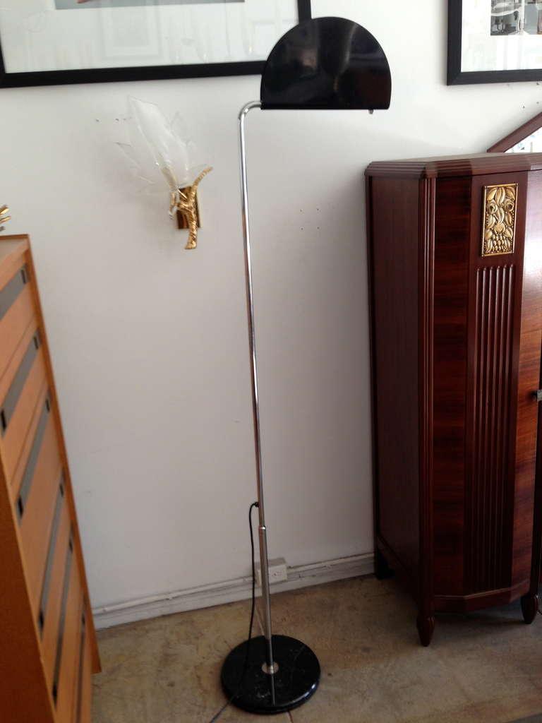 Enamel Mezzaluna Floor Lamp For Sale