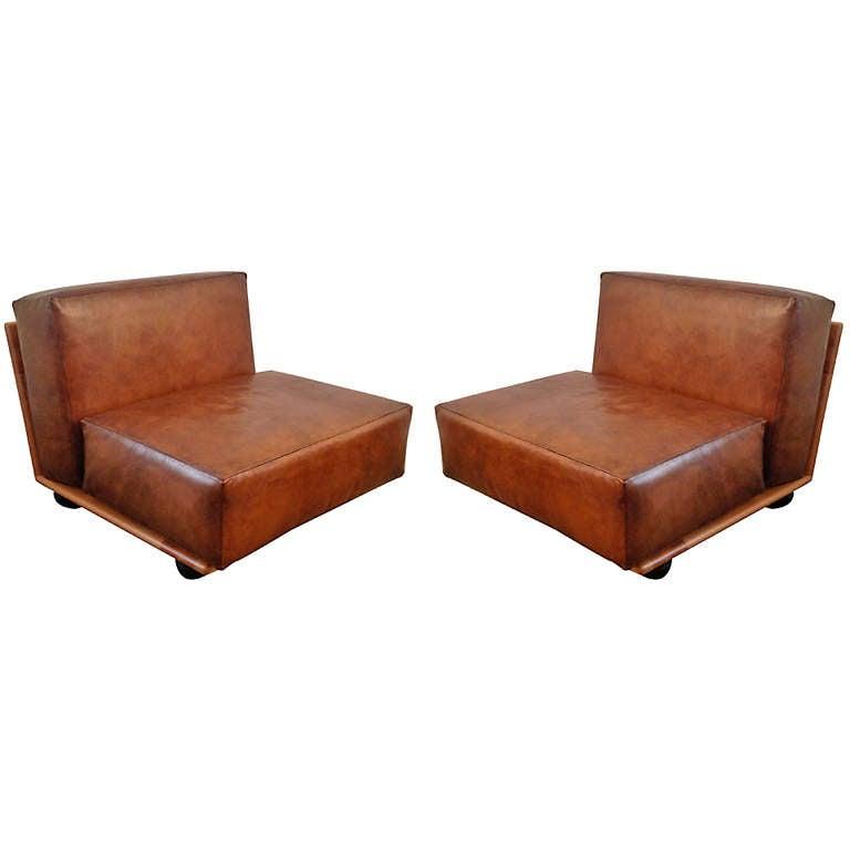 Pair of Mario Bellini Pianura Lounge Chairs 1
