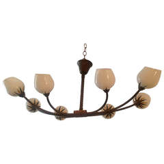 French 1940s Moderne Chandelier