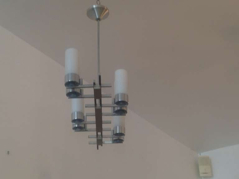 Glass French 1960s Chandelier For Sale