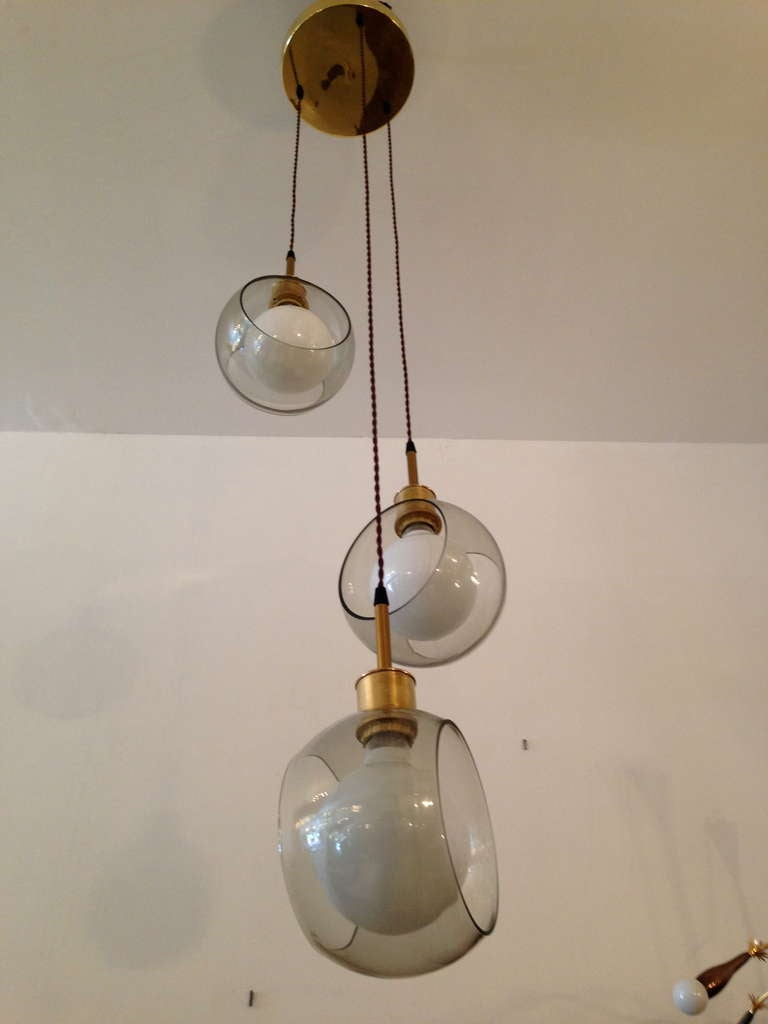 Italian mid century ceiling light for sale at 1stdibs for Mid century ceiling lamp