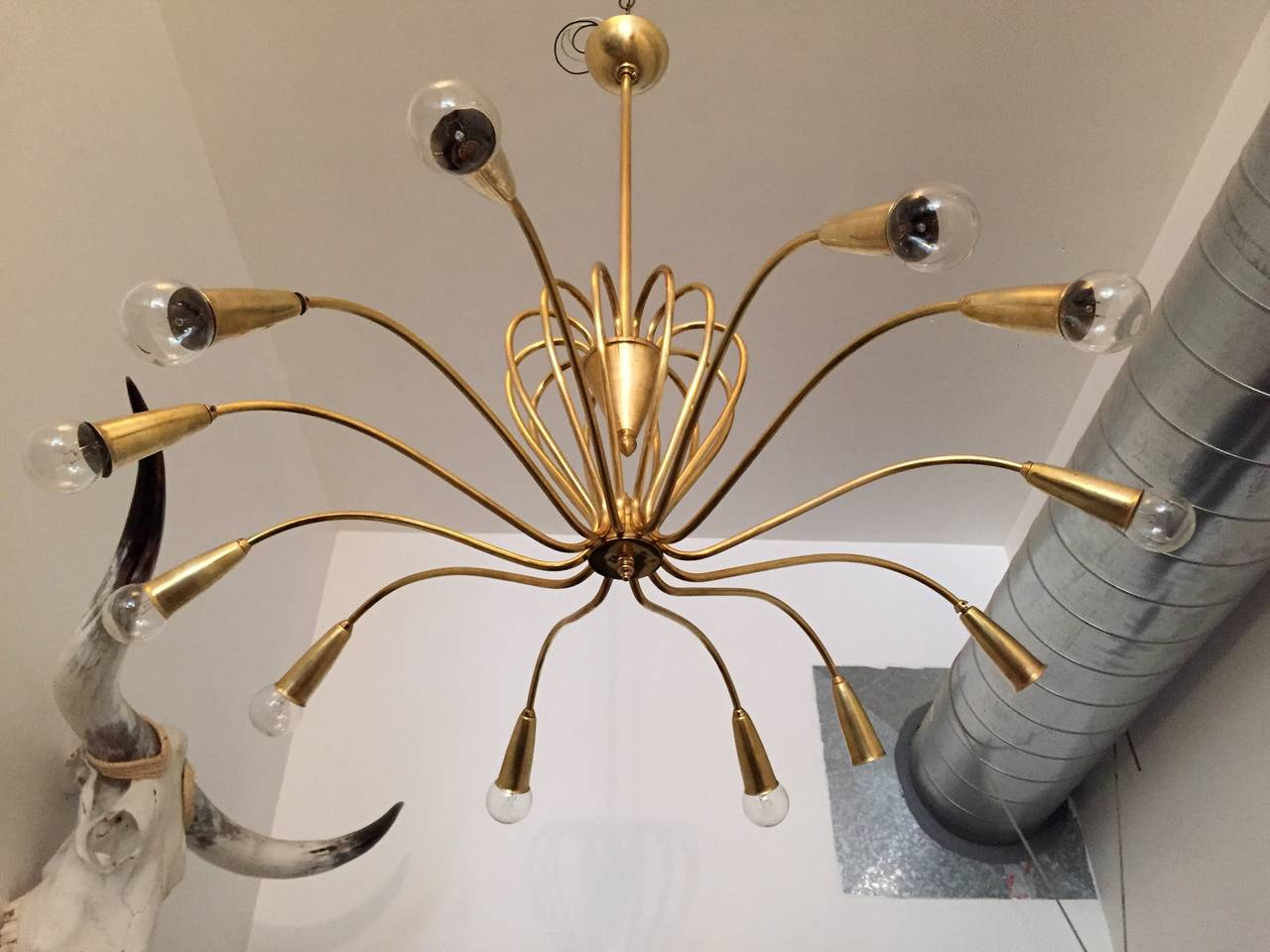 Mid-20th Century Italian 1950s Chandelier For Sale