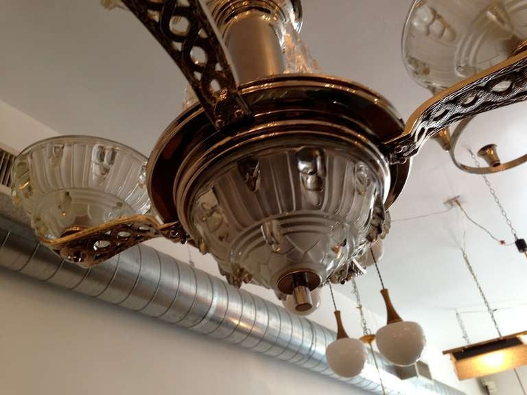 French Art Deco Chandelier For Sale 2