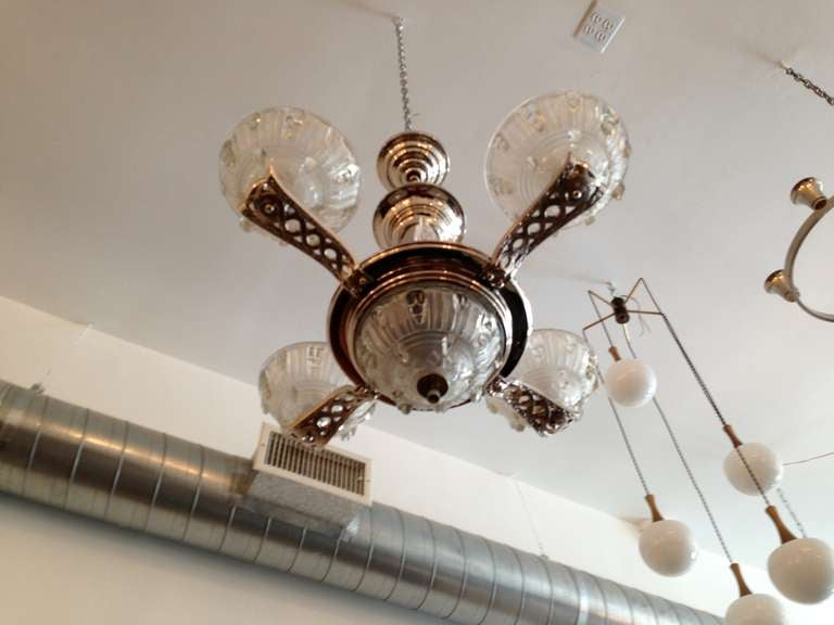 20th Century French Art Deco Chandelier For Sale