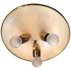 Italian 1950s Flush Ceiling Light