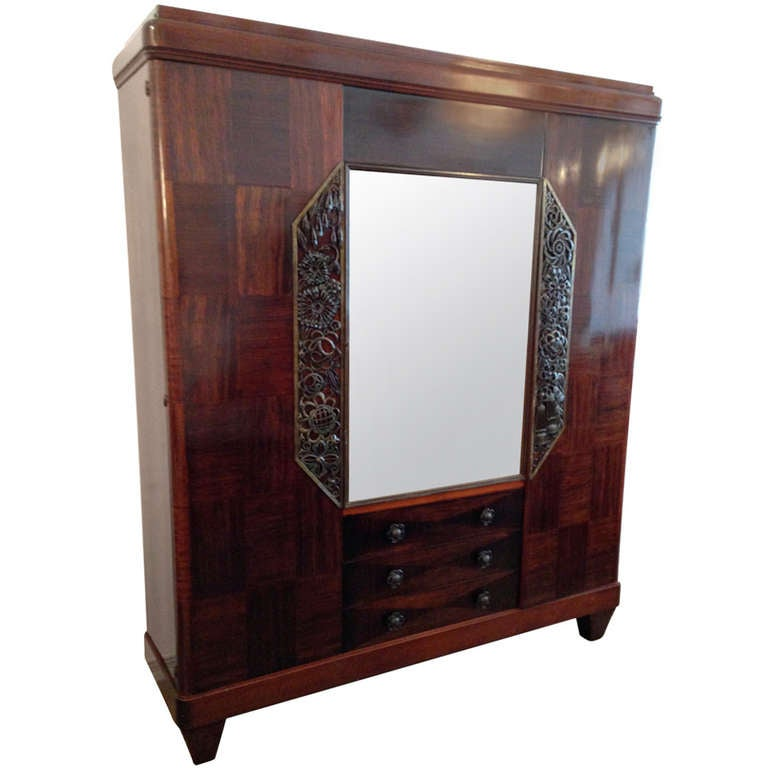 Louis Majorelle French Art Deco Cabinet 1930s For Sale