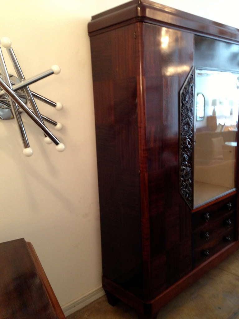 Bronze Louis Majorelle French Art Deco Cabinet 1930s For Sale