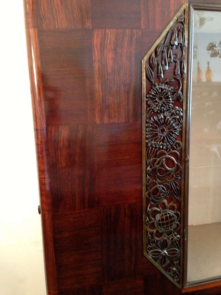 Louis Majorelle French Art Deco Cabinet 1930s For Sale 1
