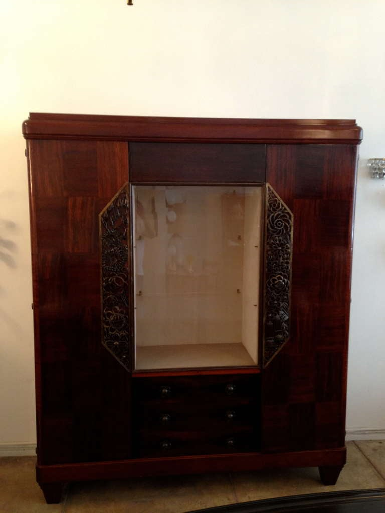 Louis Majorelle French Art Deco Cabinet 1930s In Excellent Condition For Sale In New York, NY