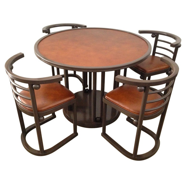 Josef Hoffmann Game Dining Table And Chairs Set At 1stdibs