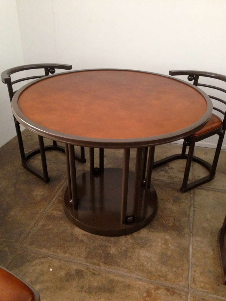 Josef Hoffmann Game/Dining Table and Chairs Set at 1stdibs