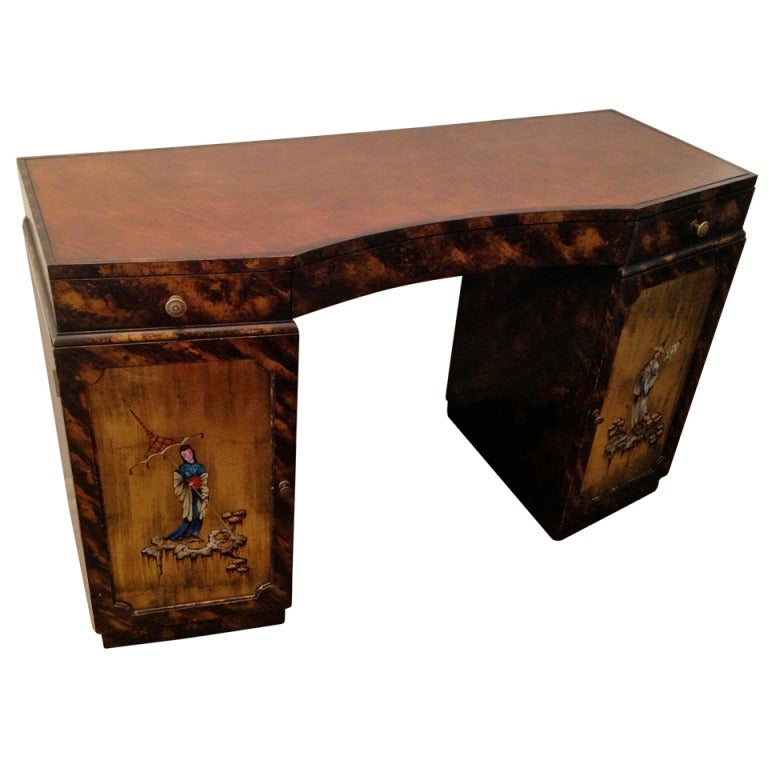 Grosfeld House Small American Art Deco Vanity Desk For Sale