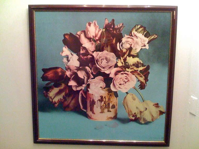 American Francesco Scavullo, Flower Arrangement, Serigraph