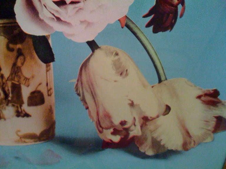 Enamel Francesco Scavullo, Flower Arrangement, Serigraph