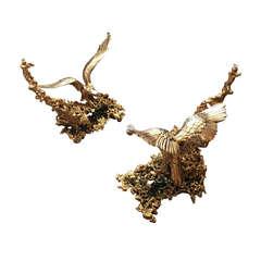 "Claude Victor Boeltz 24k Gold ""Exploded Bronze"" Table"