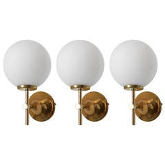 Set of Three 1960s Swiss Max Bill Wall Lights
