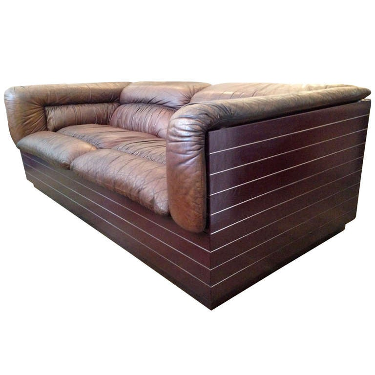 80s Saporiti Leather Sofa Loveseat At 1stdibs