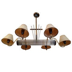 French Moderne Billiard Chandelier
