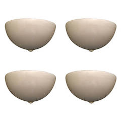 Set of Four Mazzega Glass Wall Lights