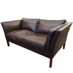 Illums Bolighus Danish 1960s Leather Sofa