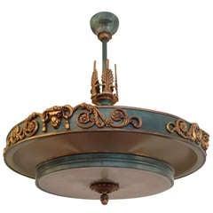 Swedish Art Deco Chandelier