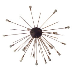 Grand Sputnik Flush Ceiling Chandelier