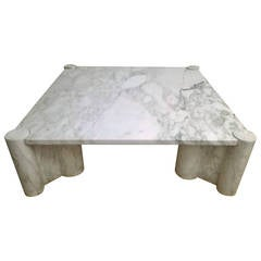 "Gae Aulenti ""Jumbo"" Marble Table"