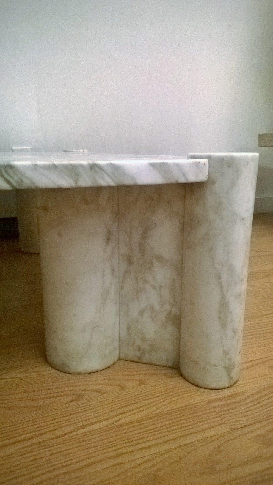 """Gae Aulenti """"Jumbo"""" Marble Table 8"""