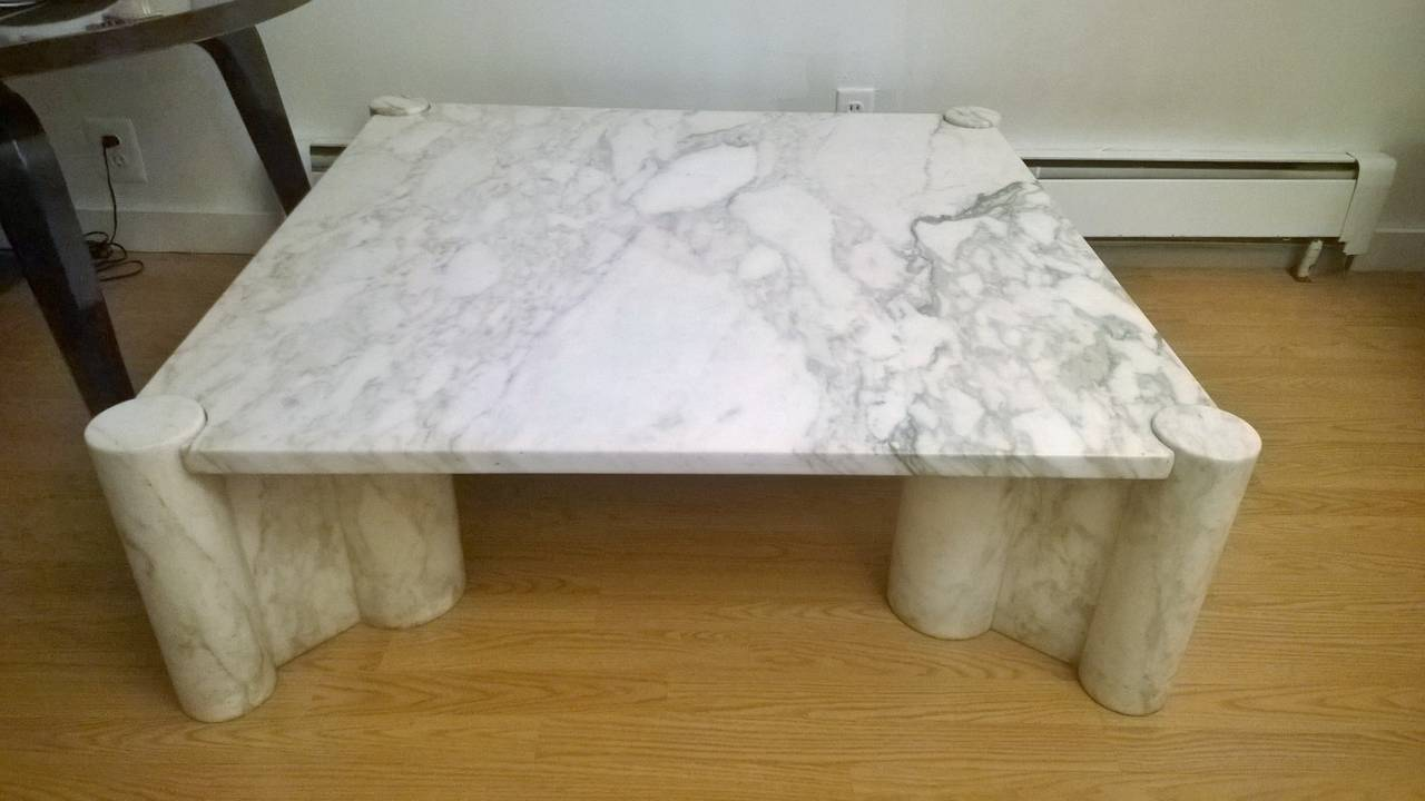 "Gae Aulenti ""Jumbo"" Marble Table 2"