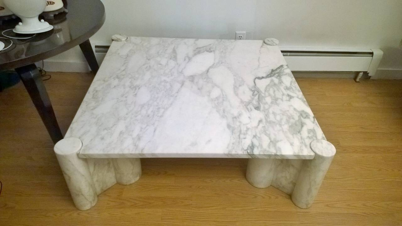 "Gae Aulenti ""Jumbo"" Marble Table 3"
