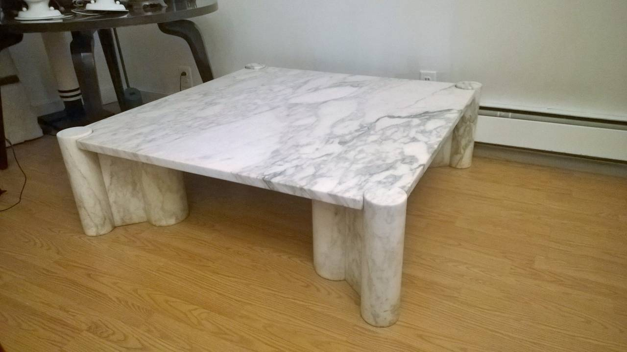 "Gae Aulenti ""Jumbo"" Marble Table 4"