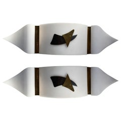 Pair of Italian, 1950s Sconces