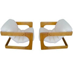 Pair of Lou Hodges California Sling Chairs