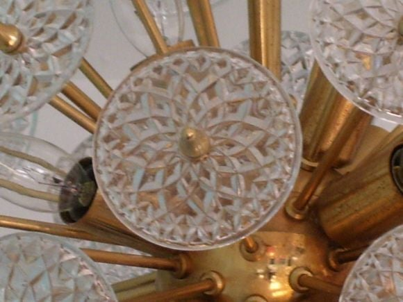 Pair of Belgian Snowflake Chandeliers 4