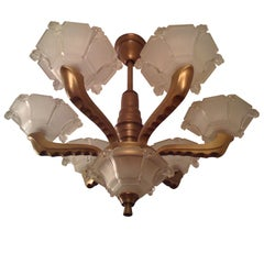 French Deco Chandelier