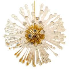 Pair of 1960s Italian Murano Glass Dandelion Chandelier